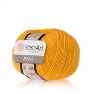 Włóczka Yarn Art Jeans 35 w kolorze słonecznym to kultowa propozycja największego tureckiego producenta. Jej skład to mieszanka bawełny z akrylem.