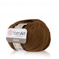 Włóczka Yarn Art Jeans 40 w kolorze ziemistym to kultowa propozycja największego tureckiego producenta. Jej skład to mieszanka bawełny z akrylem.