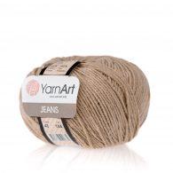 Włóczka Yarn Art Jeans 48 w kolorze beżowym to kultowa propozycja największego tureckiego producenta. Jej skład to mieszanka bawełny z akrylem.