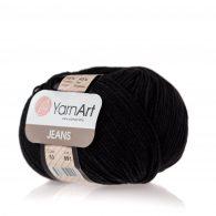 Włóczka Yarn Art Jeans 53 w kolorze czarnym to kultowa propozycja największego tureckiego producenta. Jej skład to mieszanka bawełny z akrylem.