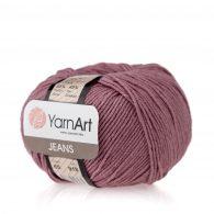 Włóczka Yarn Art Jeans 65 w kolorze wrzosowym to kultowa propozycja największego tureckiego producenta. Jej skład to mieszanka bawełny z akrylem.