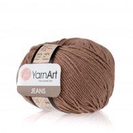 Włóczka Yarn Art Jeans 71 w kolorze kakaowym to kultowa propozycja największego tureckiego producenta. Jej skład to mieszanka bawełny z akrylem.