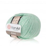 Włóczka Yarn Art Jeans 79 w kolorze mięty to kultowa propozycja największego tureckiego producenta. Jej skład to mieszanka bawełny z akrylem.