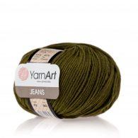 Włóczka Yarn Art Jeans 82 w kolorze leśnym to kultowa propozycja największego tureckiego producenta. Jej skład to mieszanka bawełny z akrylem.