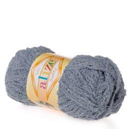 Alize Softy 119 szary mięciutka włochata włóczka idealna na maskotki, szale, poduchy i koce. Struktura trawki daje piękny fantazyjny efekt.