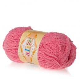 Alize Softy 265 cukierkowy mięciutka włochata włóczka idealna na maskotki, szale, poduchy i koce. Struktura trawki daje piękny fantazyjny efekt.
