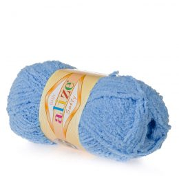 Alize Softy 40 niebieski mięciutka włochata włóczka idealna na maskotki, szale, poduchy i koce. Struktura trawki daje piękny fantazyjny efekt.