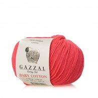 Gazzal Baby Cotton 3458 słodki koral to bawełniano-akrylowa włóczka występująca w wielu pięknych kolorach, idealna do amigurumi.