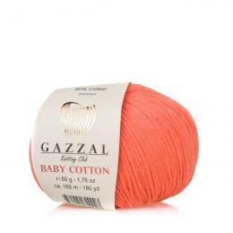 Gazzal Baby Cotton 3459 słodki łosoś to bawełniano-akrylowa włóczka występująca w wielu pięknych kolorach, idealna do amigurumi.
