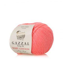 Gazzal Baby Cotton 3460 słodki róż to bawełniano-akrylowa włóczka występująca w wielu pięknych kolorach, idealna do amigurumi.