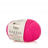 Gazzal Baby Cotton 3461 słodka fuksja to bawełniano-akrylowa włóczka występująca w wielu pięknych kolorach, idealna do amigurumi.