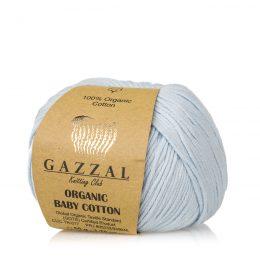 Gazzal Organic Baby Cotton 417 błękit to włóczka z bawełny organicznej występująca w wielu pięknych kolorach, idealna dla dzieci.
