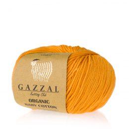 Gazzal Organic Baby Cotton 418 dynia to włóczka z bawełny organicznej występująca w wielu pięknych kolorach, idealna dla dzieci.