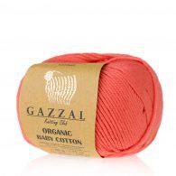 Gazzal Organic Baby Cotton 419 koralowy to włóczka z bawełny organicznej występująca w wielu pięknych kolorach, idealna dla dzieci.