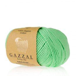 Gazzal Organic Baby Cotton 421 słodki groszek to włóczka z bawełny organicznej występująca w wielu pięknych kolorach, idealna dla dzieci.
