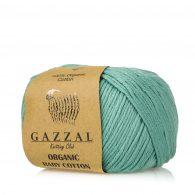 Gazzal Organic Baby Cotton 422 szałwia to włóczka z bawełny organicznej występująca w wielu pięknych kolorach, idealna dla dzieci.