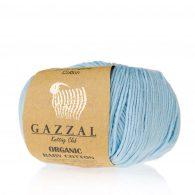 Gazzal Organic Baby Cotton 423 niebiański to włóczka z bawełny organicznej występująca w wielu pięknych kolorach, idealna dla dzieci.