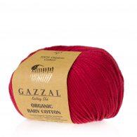 Gazzal Organic Baby Cotton 429 czereśnia to włóczka z bawełny organicznej występująca w wielu pięknych kolorach, idealna dla dzieci.