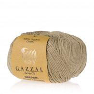Gazzal Organic Baby Cotton 431 orzechowy to włóczka z bawełny organicznej występująca w wielu pięknych kolorach, idealna dla dzieci.