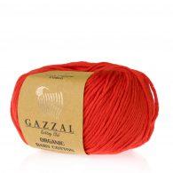 Gazzal Organic Baby Cotton 432 truskawkowy to włóczka z bawełny organicznej występująca w wielu pięknych kolorach, idealna dla dzieci.