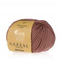 Gazzal Organic Baby Cotton 433 kasztanowy to włóczka z bawełny organicznej występująca w wielu pięknych kolorach, idealna dla dzieci.