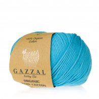 Gazzal Organic Baby Cotton 424 lazur to włóczka z bawełny organicznej występująca w wielu pięknych kolorach, idealna dla dzieci.