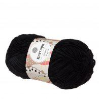 Kartopu Elegance 0053 w kolorze czarnym to cieńsza wersja pluszowej włóczki Dolphin Baby. Idealna na kocyki i zabawki. 100g/180m