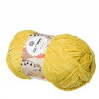 Kartopu Elegance 0068 w kolorze żółtym to cieńsza wersja pluszowej włóczki Dolphin Baby. Idealna na kocyki i zabawki. 100g/180m