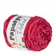 Włóczka PapatyaVelvet 302-05 rubin od tureckiej firmy Kamgarn ucieszy fanów pluszowych włóczek