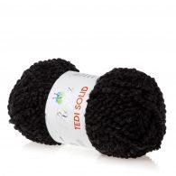 rozetti tedi solid 235-04 włoczka w kolorze czarnym idealna do robienia włosów dla lalek