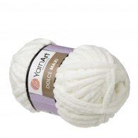 yarn art dolce maxi 745 gruba pluszowa włóczka w kolorze kremowym. Większa siostra sławnej Dolphin Baby, idealna na zabawki lub koce