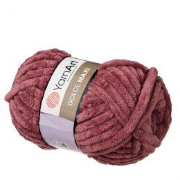 yarn art dolce maxi 751 gruba pluszowa włóczka w kolorze burgundowym. Większa siostra sławnej Dolphin Baby, idealna na zabawki lub koce