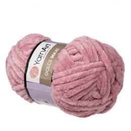 yarn art dolce maxi 769 gruba pluszowa włóczka w kolorze wrzosowym. Większa siostra sławnej Dolphin Baby, idealna na zabawki lub koce