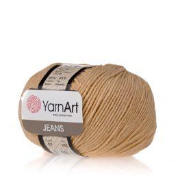 Włóczka Yarn Art Jeans 07 w kolorze beżowym to kultowa propozycja największego tureckiego producenta. Jej skład to mieszanka bawełny z akrylem.
