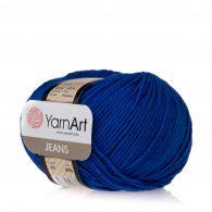 Włóczka Yarn Art Jeans 47 w kolorze kobaltowym to kultowa propozycja największego tureckiego producenta. Jej skład to mieszanka bawełny z akrylem.