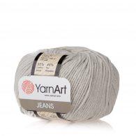 Włóczka Yarn Art Jeans 49 w kolorze szarobeżowym to kultowa propozycja największego tureckiego producenta. Jej skład to mieszanka bawełny z akrylem.