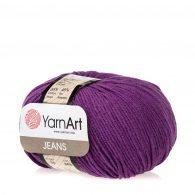Włóczka Yarn Art Jeans 50 w kolorze fioletowy to kultowa propozycja największego tureckiego producenta. Jej skład to mieszanka bawełny z akrylem.