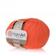 Włóczka Yarn Art Jeans 61 w kolorze neonowym to kultowa propozycja największego tureckiego producenta. Jej skład to mieszanka bawełny z akrylem.