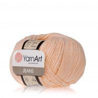 Włóczka Yarn Art Jeans 73 w kolorze morelowym to kultowa propozycja największego tureckiego producenta. Jej skład to mieszanka bawełny z akrylem.