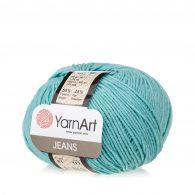 Włóczka Yarn Art Jeans 81 w kolorze aqua to kultowa propozycja największego tureckiego producenta. Jej skład to mieszanka bawełny z akrylem.