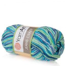 Yarn Art Jeans Crazy 7204 cieniowana kolorowa włóczka do amigurumi.