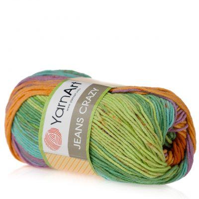 Yarn Art Jeans Crazy 8202 cieniowana kolorowa włóczka do amigurumi.
