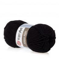 Yarn Art Jeans Plus 53 w kolorze czarnym. Powiększona wersja Yarn Art Jeans.