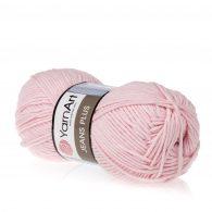 Yarn Art Jeans Plus 74 w kolorze różowym. Powiększona wersja Yarn Art Jeans.
