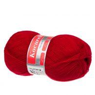 Arelan Kocurek 4-2224 czerwony - polski akryl, produkowany w Łodzi. Mięciutki, występuje w wielu pięknych kolorach. 520m w 100 g