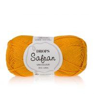 Drops Safran 11 miodowy żółty. 100% wytrzymała, miękka, bawełna egipska, z certyfikatem Standard 100 by Oeko-Tex.Produkowana w Europie.