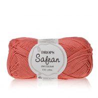 Drops Safran 12 koralowy łosoś. 100% wytrzymała, miękka, bawełna egipska, z certyfikatem Standard 100 by Oeko-Tex. Produkowana w Europie.
