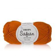 Drops Safran 28 pomarańczowe rudości. 100% wytrzymała, miękka, bawełna egipska, z certyfikatem Standard 100 by Oeko-Tex. Produkowana w Europie.