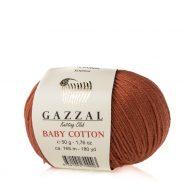Gazzal Baby Cotton 3454 rudy to bawełniano-akrylowa włóczka występująca w wielu pięknych kolorach, idealna do amigurumi.