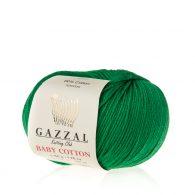 Gazzal Baby Cotton 3456 trawiasty to bawełniano-akrylowa włóczka występująca w wielu pięknych kolorach, idealna do amigurumi.
